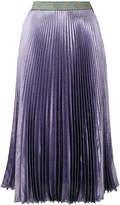 Christopher Kane lamé pleated skirt