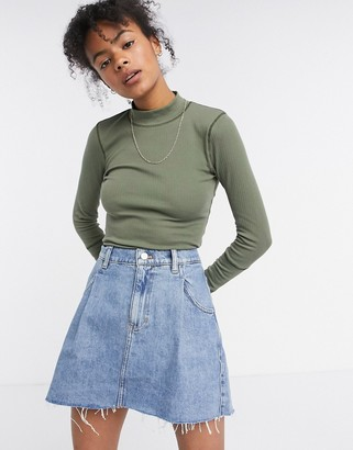 Free People Rickie Top in Army Green