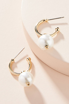 Anthropologie Dannijo Gayle Hoop Earrings By in Gold