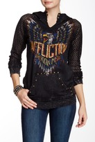 Affliction Born To Run Lace Sleeve Hoodie