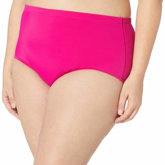 Maxine Of Hollywood Women's High Waist Hipster Bikini Swimsuit Bottom