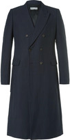 Dries Van Noten Royce Slim-Fit Strap-Detailed Double-Breasted Cotton and Linen-Blend Twill Coat