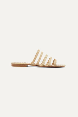Carrie Forbes Asmaa Woven Raffia Sandals - Beige