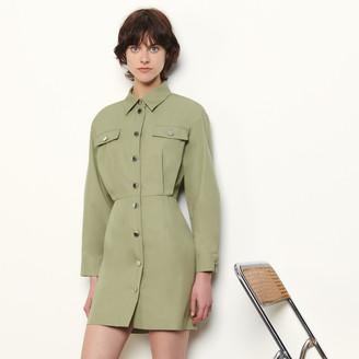 Sandro Short cotton safari-style dress