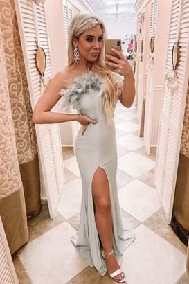 Maniju Feather Detail Gown