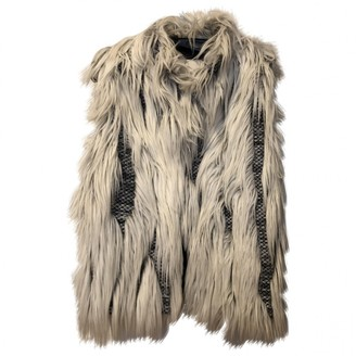 Gaelle Bonheur White Faux fur Jacket for Women