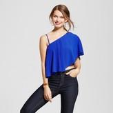 XOXO Women's One Shoulder Crop Top Juniors') Blue