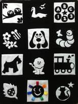 Pretty Wonderful Patchwork Travel Playmat: BLACK And WHITE