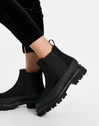 Grenson Abbie chelsea boots in black suede