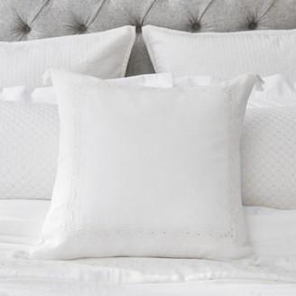 The White Company Sienna Cushion Cover, White, Medium Square