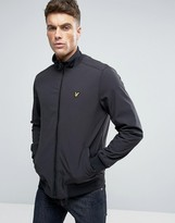 Lyle & Scott Softshell Bomber Jacket Eagle Logo in Black