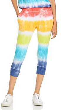 Chaser Tie Dyed Cropped Jogger Pants
