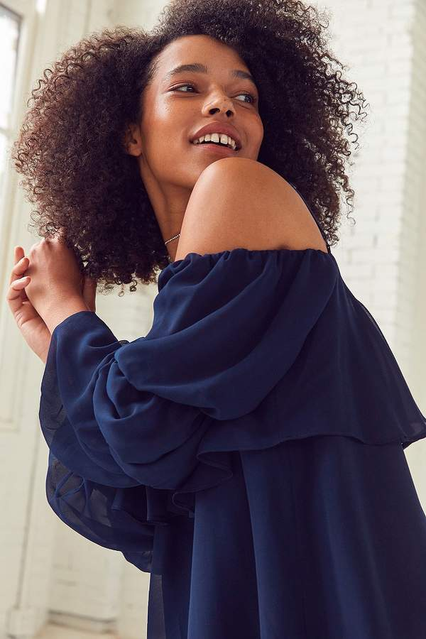 brand Lucca Couture Lucca Couture Katie Cold-Shoulder Ruffle Sleeve Dress
