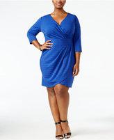 Love Squared Trendy Plus Size Faux-Wrap Dress