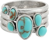 Lucky Brand Turquoise Stack Ring II Ring