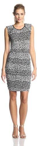 Juicy Couture Women's Mixed Cheetah Luxe Sleeveless Sheath Dress
