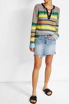J Brand Distressed Mini Skirt