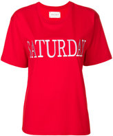 Alberta Ferretti Saturday embroidered T-shirt - women - Cotton - S