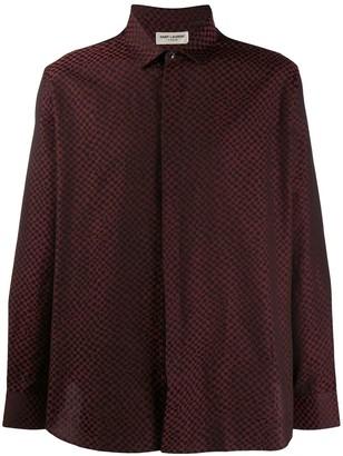 Saint Laurent Patterned Jacquard Shirt