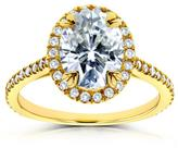 Kobelli Jewelry Kobelli 2 1/3 CT TW Oval Moissanite and Diamond 14K Gold Halo Engagement Ring