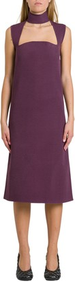Bottega Veneta Sheath Dress With Cut Out Detail