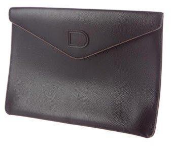 Delvaux Leather Envelope Clutch