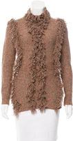 Yigal Azrouel Fringe-Trimmed Wool-Blend Sweater