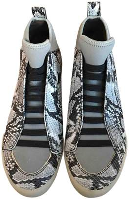 3.1 Phillip Lim Grey Water snake Trainers