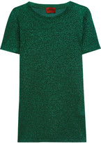 Missoni Metallic Crochet-knit Top - Green
