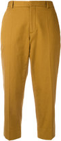 Maison Margiela high cropped trousers - women - Cotton/Linen/Flax - 40