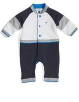 Armani Junior Colorblock Track Romper (Baby Boys)