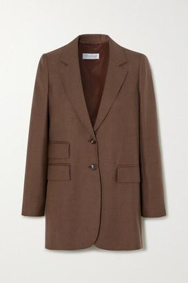 Max Mara Pagoda Camel Hair And Silk-blend Blazer - Brown