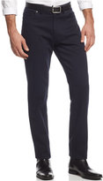 Vince Camuto Men's Navy Crosshatch Stretch-Fabric Pants Slim-Fit Pants