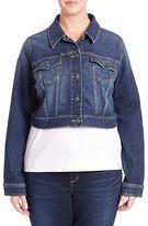 Slink Jeans Plus Plus Cropped Jean Jacket