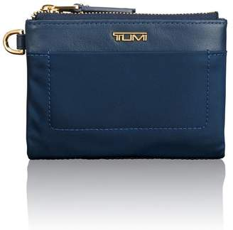Tumi Double Zip Leather Trimmed Nylon Bifold Wallet