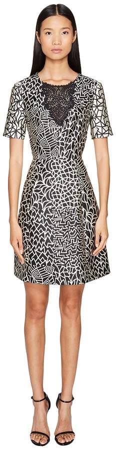 Yigal Azrouel Tribal Patchwork A-Line Dress Women's Dress