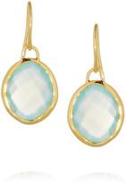 Monica Vinader Nugget gold-vermeil chalcedony earrings