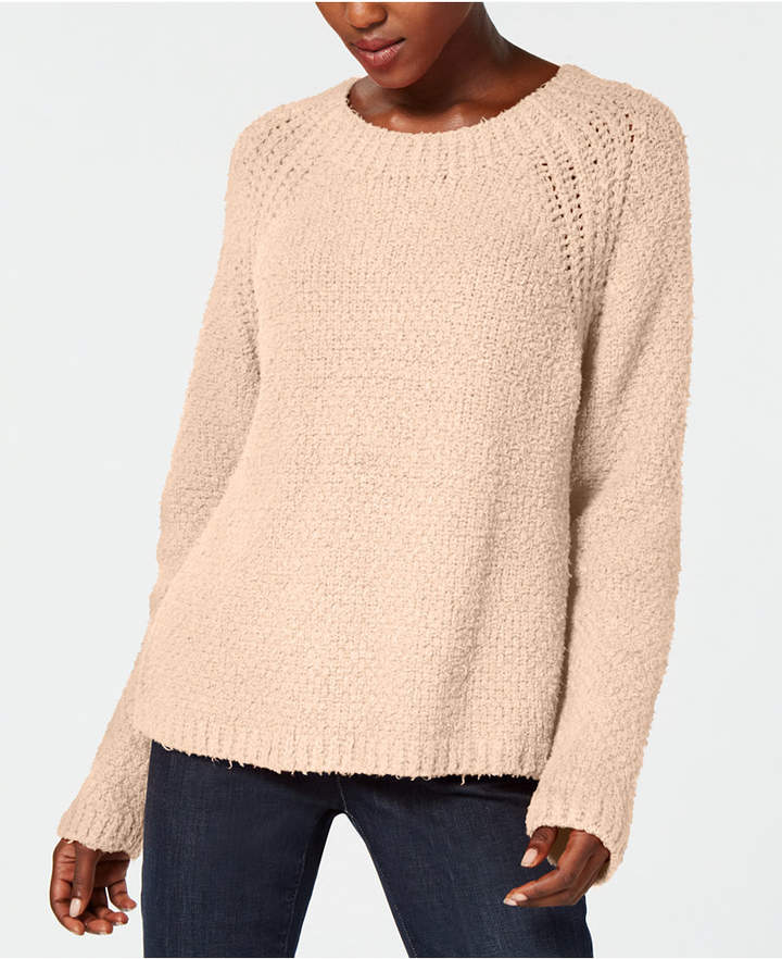 Eileen Fisher Organic Cotton Long-Sleeve Crew-Neck Sweater