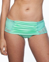 Nicolita Swimwear - Paradiso Crochet Side Mini Skirt Bikini Bottom Teal
