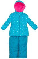 Pink Platinum Toddler Girl Heavyweight Star Print Jacket & Solid Bib Snow Pants Set