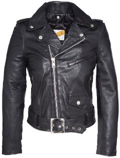 Schott NYC Black Lambskin Lady Perfect Jacket with Belt - black   Lambskin   s - Black/Black