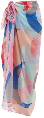 Emilio Pucci Quirimbas-print Cotton-voile Sarong - Pink Multi