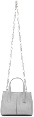 Tibi Grey Snake Mini Le Client Chain Bag