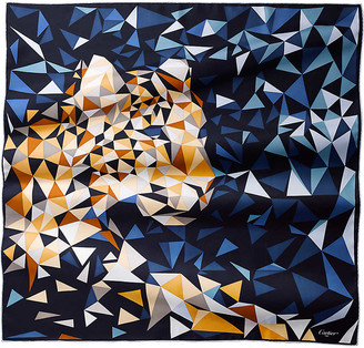 Cartier Panthere pixel silk scarf