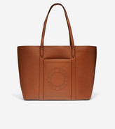 Cole Haan Leather Zip Top Tote