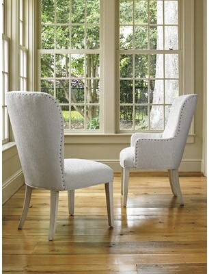 Lexington Oyster Bay Baxter Upholstered Dining Chair Upholstery Color: Gray