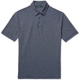Incotex - Striped Knitted Cotton Polo Shirt