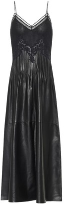 Gabriela Hearst Althea leather midi dress