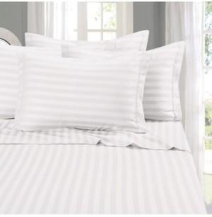 Elegant Comfort 6-Piece Luxury Soft Stripe Bed Sheet Set California King Bedding