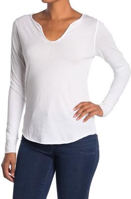 Zadig & Voltaire Glitter Skull Back Print Long Sleeve T-Shirt
